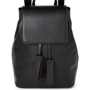 French Connection Faux Leather Backpack Black Vale